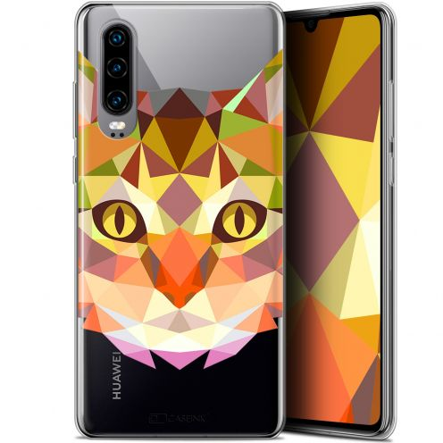 "Carcasa Gel Extra Fina Huawei P30 (6.1"") Polygon Animals Gato"