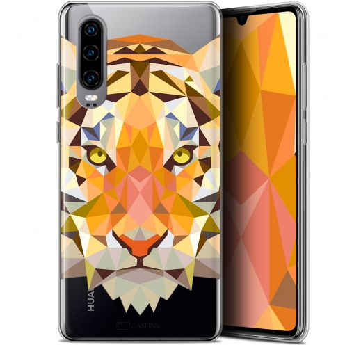 "Carcasa Gel Extra Fina Huawei P30 (6.1"") Polygon Animals Tigre"