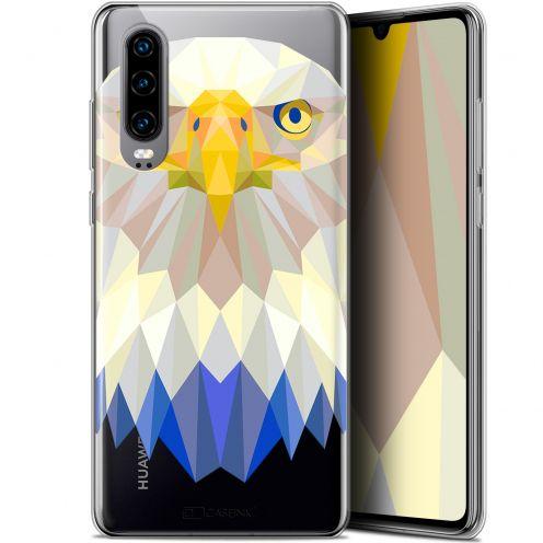 "Carcasa Gel Extra Fina Huawei P30 (6.1"") Polygon Animals Águila"