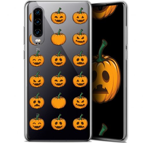"Carcasa Gel Extra Fina Huawei P30 (6.1"") Halloween Smiley Citrouille"