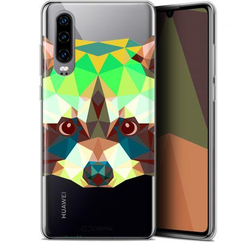 "Carcasa Gel Extra Fina Huawei P30 (6.1"") Polygon Animals Raton Laveur"
