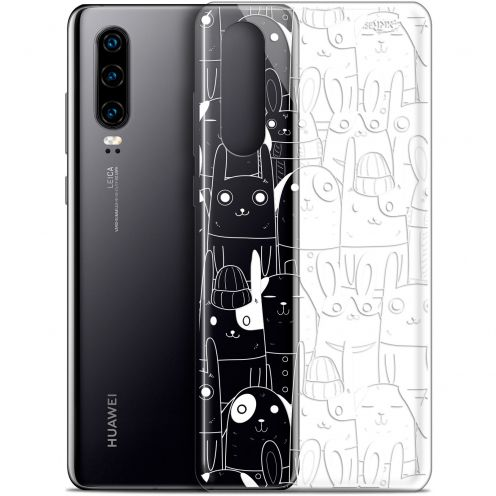 "Carcasa Gel Extra Fina Huawei P30 (6.1"") Design Lapin Blanc"