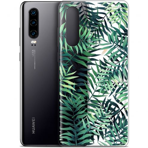 "Carcasa Gel Extra Fina Huawei P30 (6.1"") Design Feuilles des Tropiques"