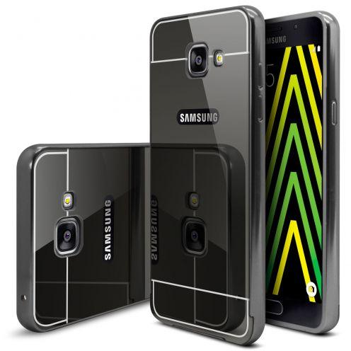 Bumper Samsung Galaxy A5 2016 (A510) Aluminium y Ventana Mirror Negro