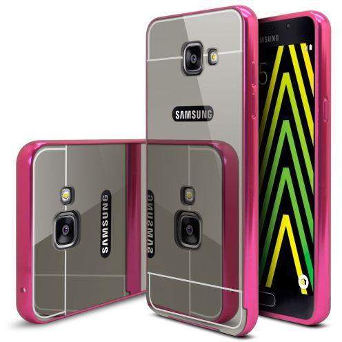 Bumper Samsung Galaxy A5 2016 (A510) Aluminium y Ventana Mirror Rosa