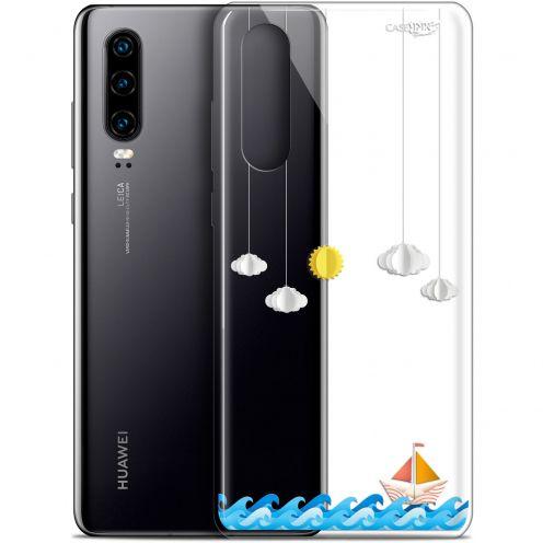 "Carcasa Gel Extra Fina Huawei P30 (6.1"") Design Petit Bateau en Mer"