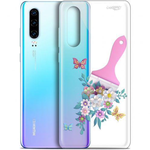 "Carcasa Gel Extra Fina Huawei P30 (6.1"") Design Pinceau à Fleurs"