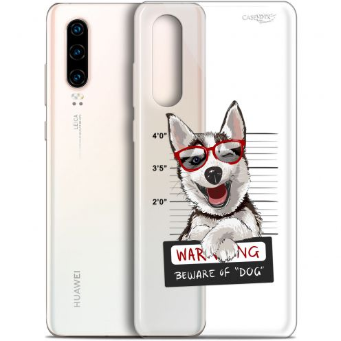 "Carcasa Gel Extra Fina Huawei P30 (6.1"") Design Beware The Husky Dog"