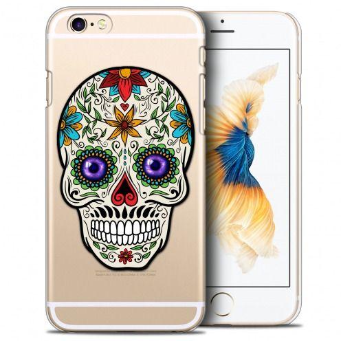 Carcasa Crystal Extra Fina iPhone 6/6s Plus (5.5) Skull Maria's Flower