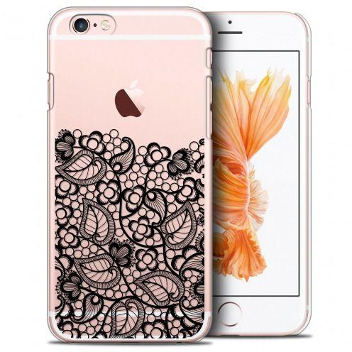 Carcasa Crystal Extra Fina iPhone 6/6s Plus (5.5) Spring Bas dentelle Noir