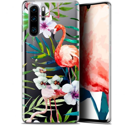 "Carcasa Gel Extra Fina Huawei P30 Pro (6.47"") Watercolor Tropical Flamingo"