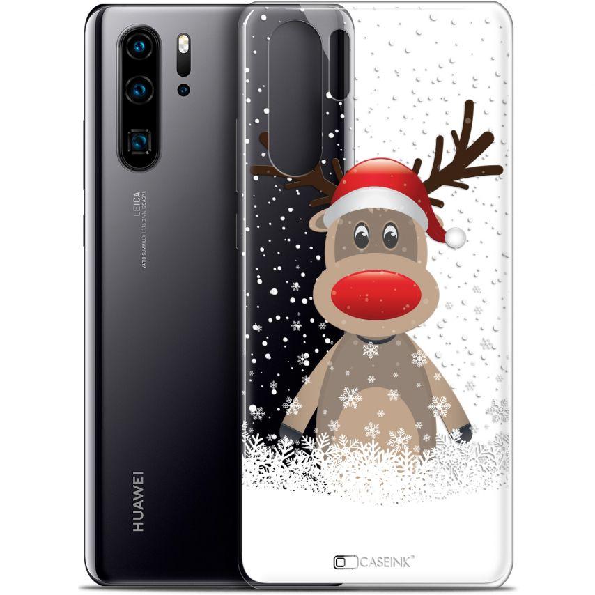 "Carcasa Gel Extra Fina Huawei P30 Pro (6.47"") Noël 2017 Cerf au Bonnet"