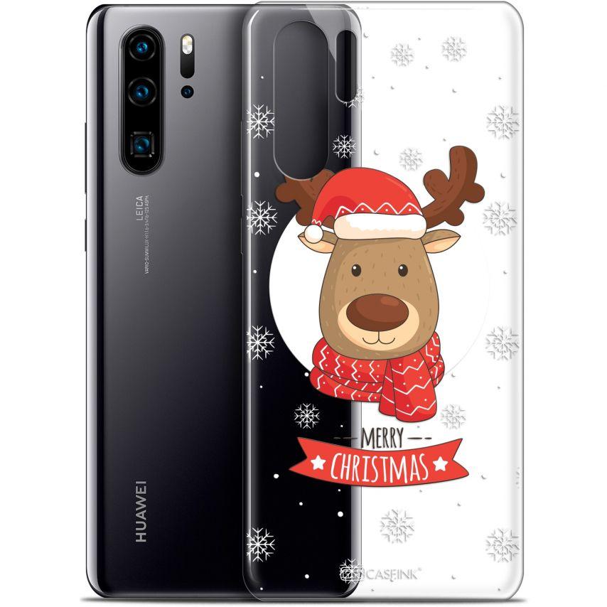 """Carcasa Gel Extra Fina Huawei P30 Pro (6.47"""") Noël 2017 Cerf à Echarpe"""
