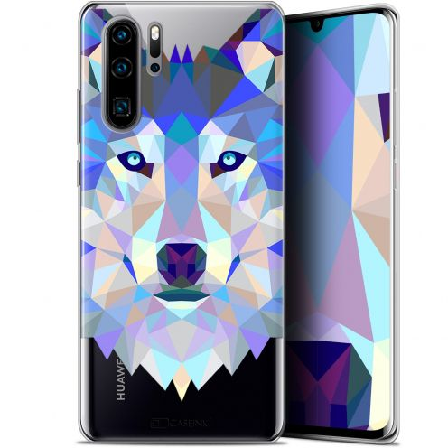 "Carcasa Gel Extra Fina Huawei P30 Pro (6.47"") Polygon Animals Lobo"
