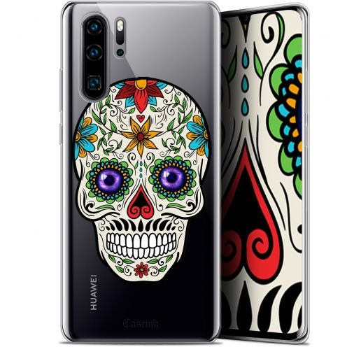 "Carcasa Gel Extra Fina Huawei P30 Pro (6.47"") Skull Maria's Flower"