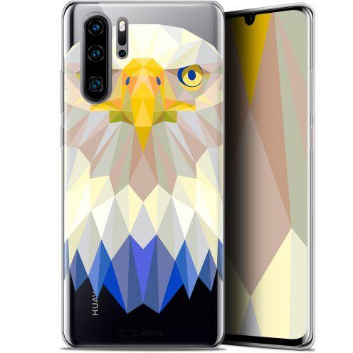 "Carcasa Gel Extra Fina Huawei P30 Pro (6.47"") Polygon Animals Águila"