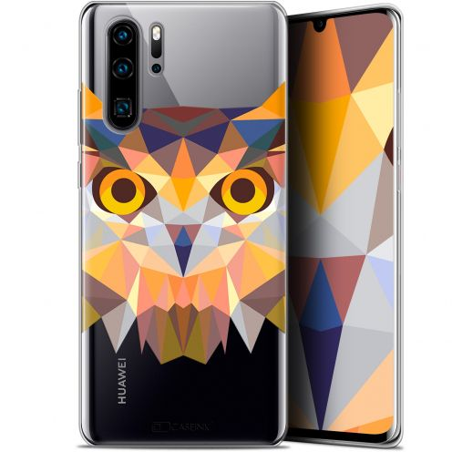 "Carcasa Gel Extra Fina Huawei P30 Pro (6.47"") Polygon Animals Búho"