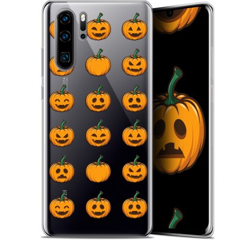 "Carcasa Gel Extra Fina Huawei P30 Pro (6.47"") Halloween Smiley Citrouille"