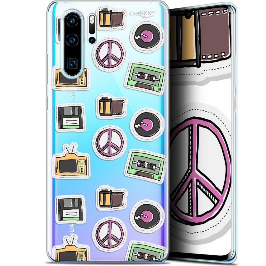 "Carcasa Gel Extra Fina Huawei P30 Pro (6.47"") Design Vintage Stickers"