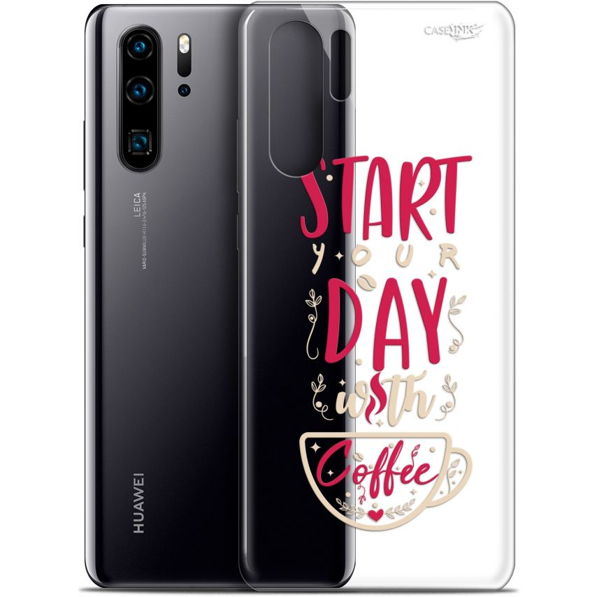 "Carcasa Gel Extra Fina Huawei P30 Pro (6.47"") Design Start With Coffee"
