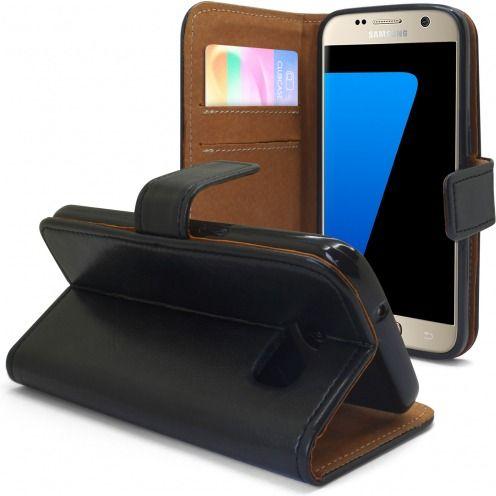 Funda Italia Foliopara Samsung Galaxy S7 Cuero AuténticoNegro