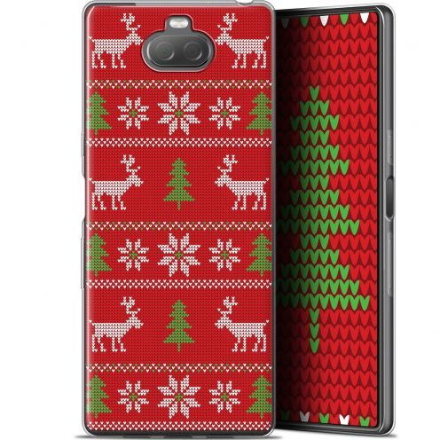 """Carcasa Gel Extra Fina Sony Xperia 10 (6"""") Noël 2017 Couture Rouge"""