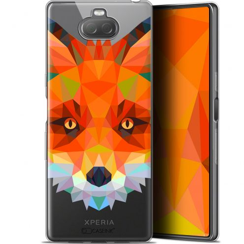 "Carcasa Gel Extra Fina Sony Xperia 10 (6"") Polygon Animals Zorro"