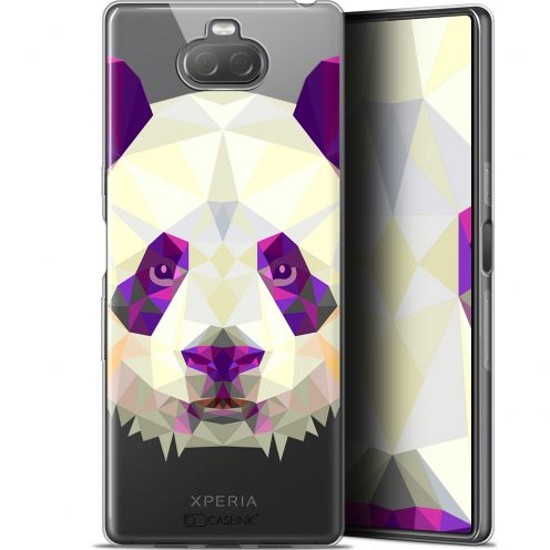 "Carcasa Gel Extra Fina Sony Xperia 10 (6"") Polygon Animals Panda"