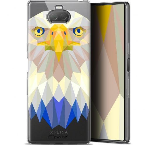 "Carcasa Gel Extra Fina Sony Xperia 10 (6"") Polygon Animals Águila"