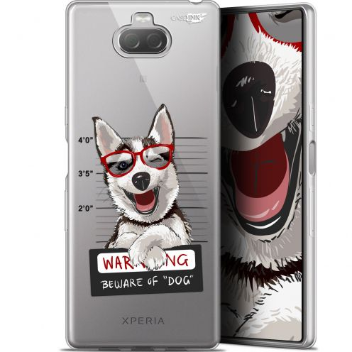 "Carcasa Gel Extra Fina Sony Xperia 10 (6"") Design Beware The Husky Dog"