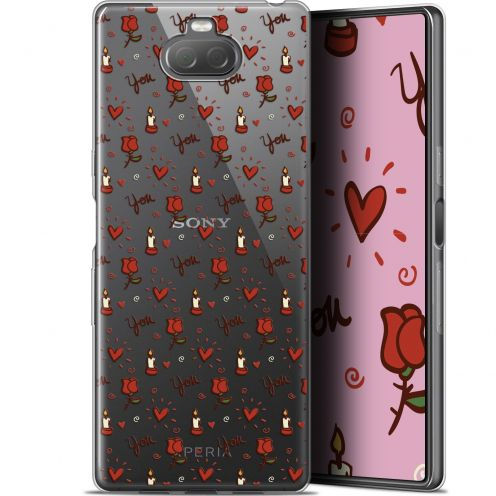 "Carcasa Gel Extra Fina Sony Xperia 10 Plus (6.5"") Love Bougies et Roses"