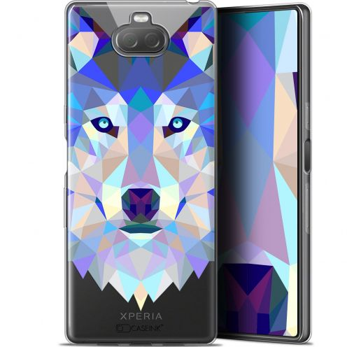 "Carcasa Gel Extra Fina Sony Xperia 10 Plus (6.5"") Polygon Animals Lobo"