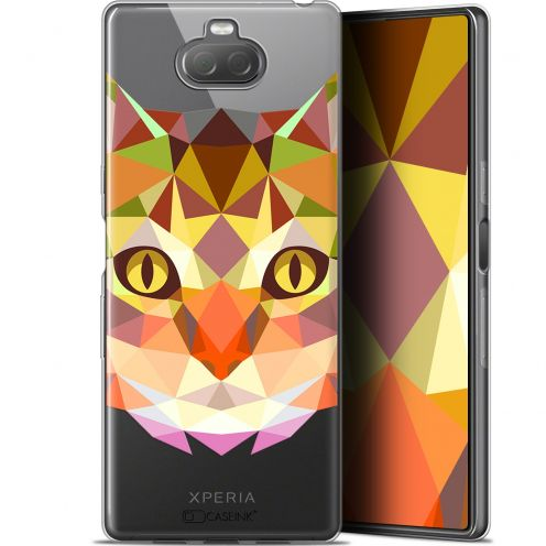 "Carcasa Gel Extra Fina Sony Xperia 10 Plus (6.5"") Polygon Animals Gato"