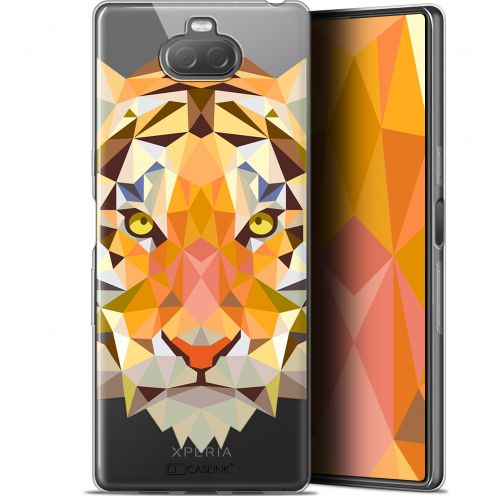 "Carcasa Gel Extra Fina Sony Xperia 10 Plus (6.5"") Polygon Animals Tigre"