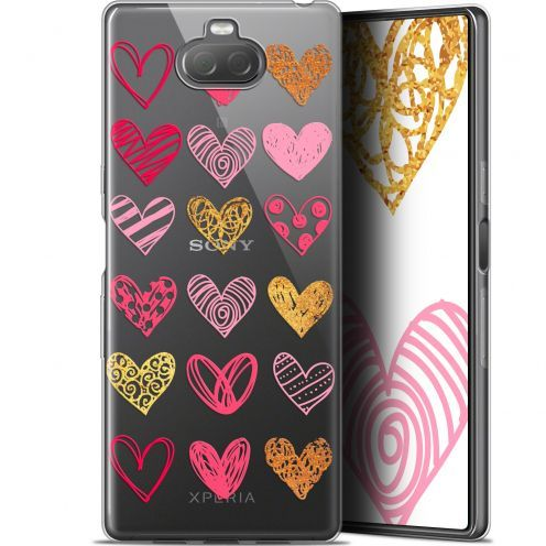 "Carcasa Gel Extra Fina Sony Xperia 10 Plus (6.5"") Sweetie Doodling Hearts"