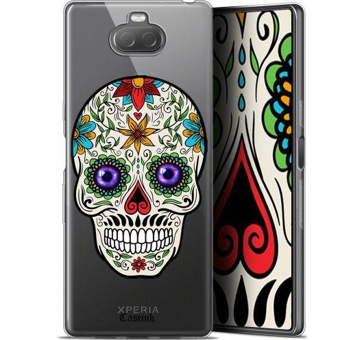 "Carcasa Gel Extra Fina Sony Xperia 10 Plus (6.5"") Skull Maria's Flower"