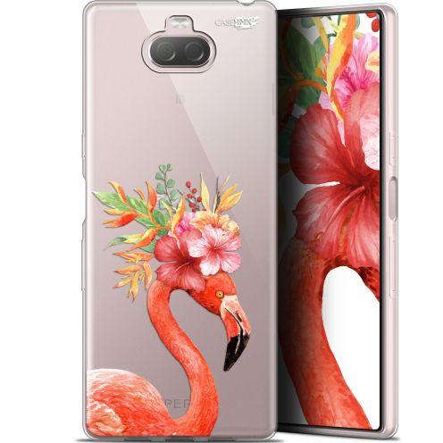 "Carcasa Gel Extra Fina Sony Xperia 10 Plus (6.5"") Design Flamant Rose Fleuri"