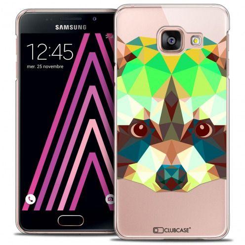 Carcasa Crystal Extra Fina Galaxy A3 2016 (A310) Polygon Animals Mapache