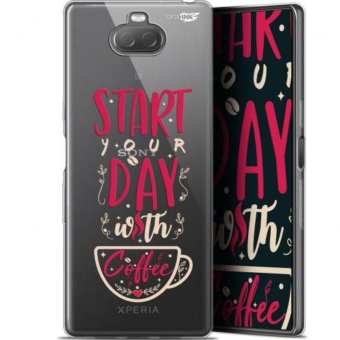 "Carcasa Gel Extra Fina Sony Xperia 10 Plus (6.5"") Design Start With Coffee"