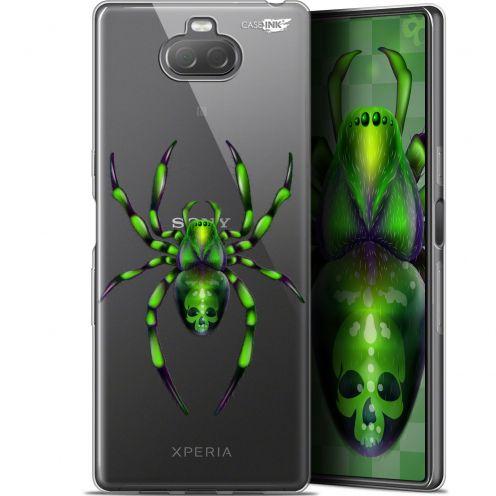 """Carcasa Gel Extra Fina Sony Xperia 10 Plus (6.5"""") Design Arraignée Verte"""