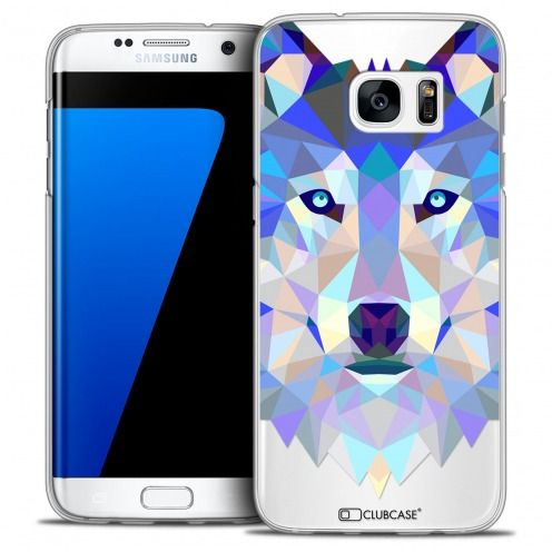 Carcasa Crystal Extra Fina Galaxy S7 Edge Polygon Animals Lobo
