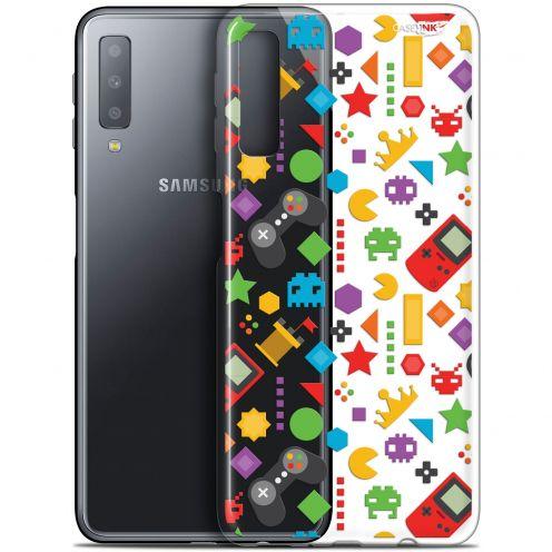 "Carcasa Gel Extra Fina Samsung Galaxy A7 2018 (A750) (6"") Design PacMan"
