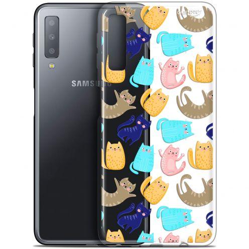 "Carcasa Gel Extra Fina Samsung Galaxy A7 2018 (A750) (6"") Design Chat Danse"