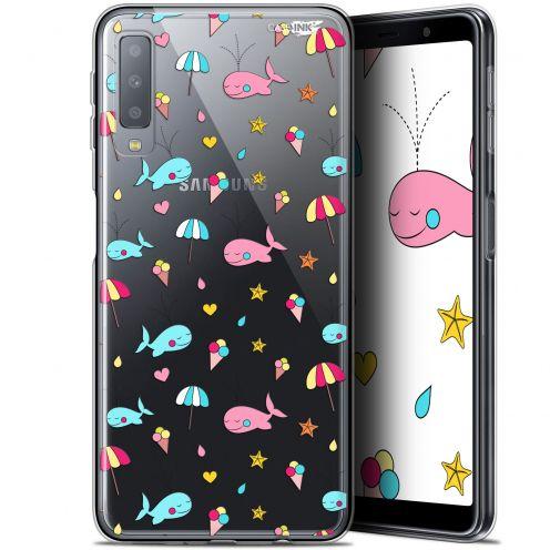 "Carcasa Gel Extra Fina Samsung Galaxy A7 2018 (A750) (6"") Design Baleine à la Plage"