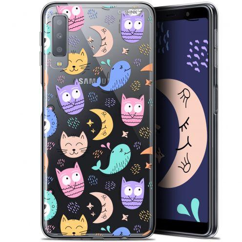 "Carcasa Gel Extra Fina Samsung Galaxy A7 2018 (A750) (6"") Design Chat Hibou"