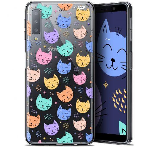 "Carcasa Gel Extra Fina Samsung Galaxy A7 2018 (A750) (6"") Design Chat Dormant"