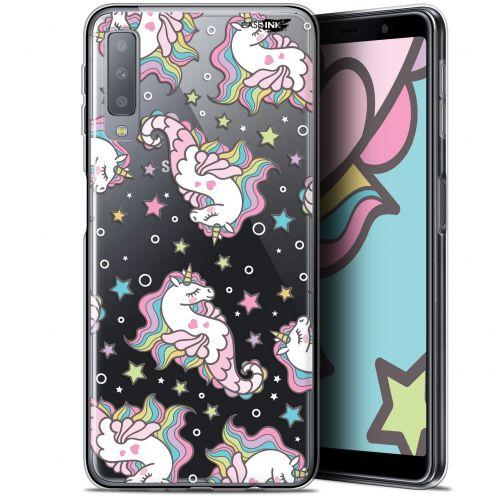 "Carcasa Gel Extra Fina Samsung Galaxy A7 2018 (A750) (6"") Design Licorne Dormante"