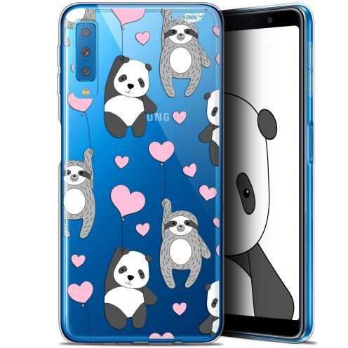 "Carcasa Gel Extra Fina Samsung Galaxy A7 2018 (A750) (6"") Design Panda'mour"