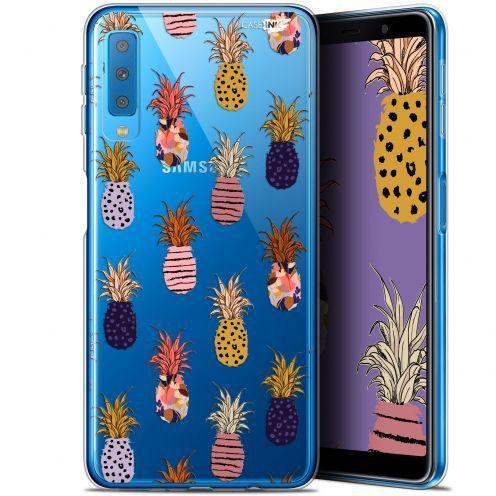"Carcasa Gel Extra Fina Samsung Galaxy A7 2018 (A750) (6"") Design Ananas Gold"