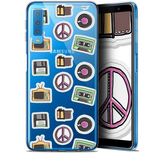 "Carcasa Gel Extra Fina Samsung Galaxy A7 2018 (A750) (6"") Design Vintage Stickers"